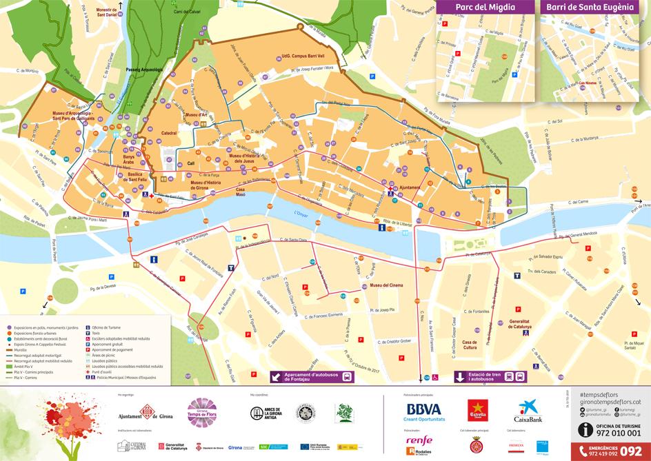 Plan fête des fleurs Gérone 2019, Girona temps de Flors 2019